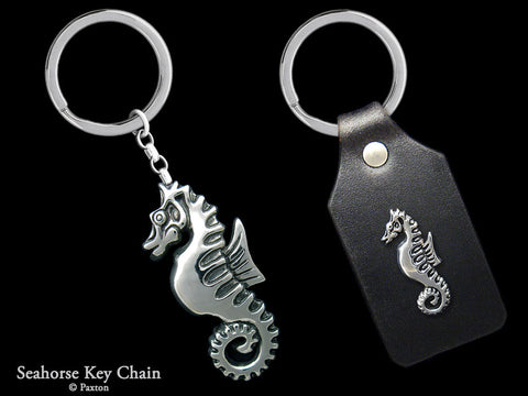 Seahorse Key Chain Sterling Silver