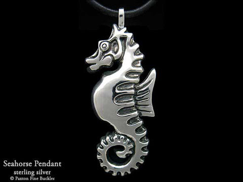 Seahorse Pendant Necklace sterling silver