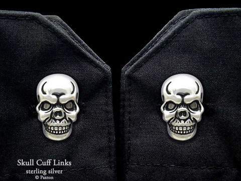 Skull Cuff Links sterling silver