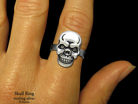 Skull Head ring sterling silver
