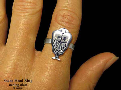 Snake Head ring sterling silver