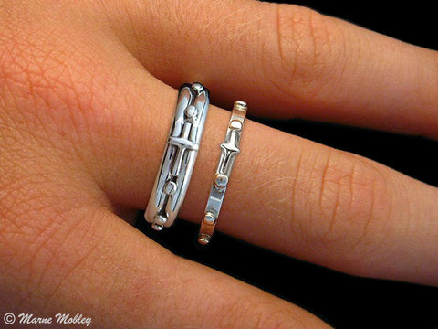 Rosary Prayer Ring in Sterling Silver