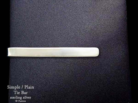 Plain Simple Tie Bar Tie Clip sterling silver