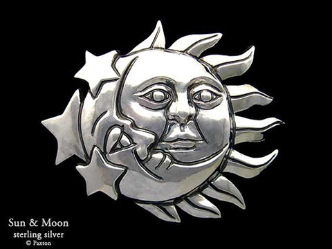 Sun Moon Belt Buckle sterling silver