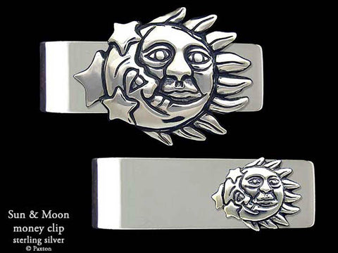 Sun Moon Money Clip