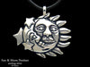 Sun Moon Pendant Necklace sterling silver