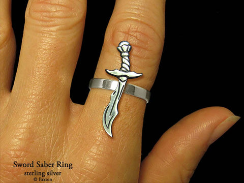 Sword Saber ring sterling silver