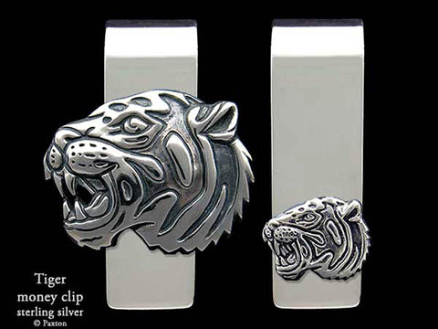 Tiger Head Money Clip