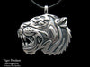 Tiger Head Pendant Necklace sterling silver