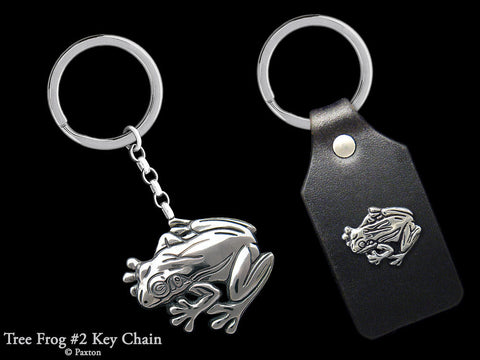 Tree Frog #2 Key Chain Sterling Silver