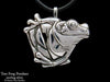 Tree Frog Pendant necklace sterling silver