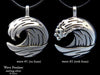 Ocean Wave Pendant Necklace sterling silver