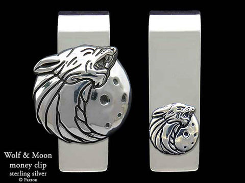Wolf Head Money Clip