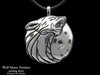Wolf Head Pendant Necklace sterling silver