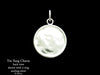 Yin Yang Charm Necklace Sterling Silver