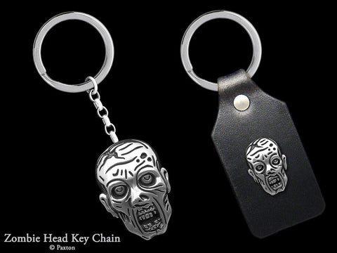 Zombie Key Chain Sterling Silver