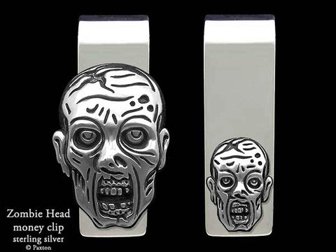 Zombie Walker Head Money Clip