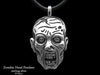 Zombie Head Pendant Necklace sterling silver