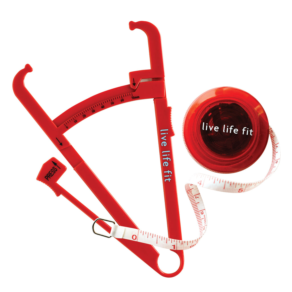 fit tools kit: body fat calipers and body tape measure
