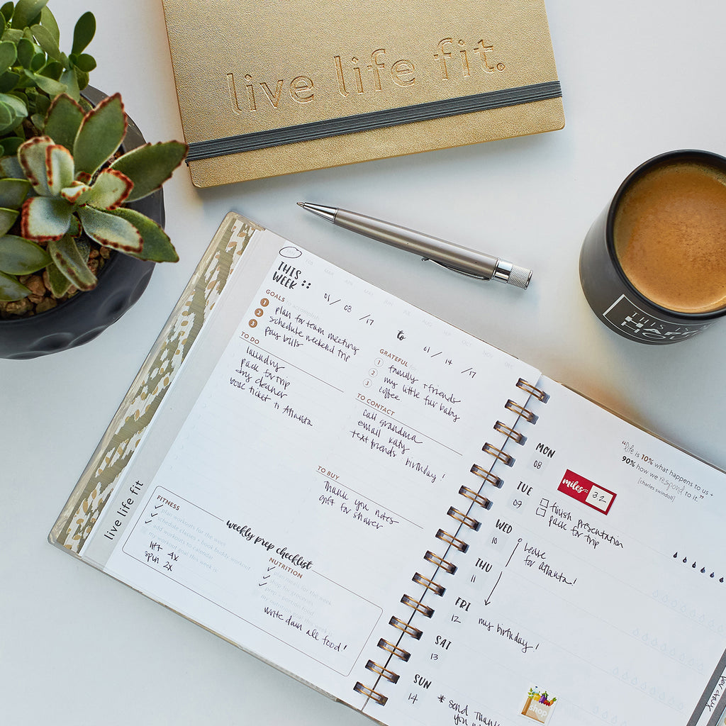weekly fitspiration planner: fit planner for the healthy goal-getter