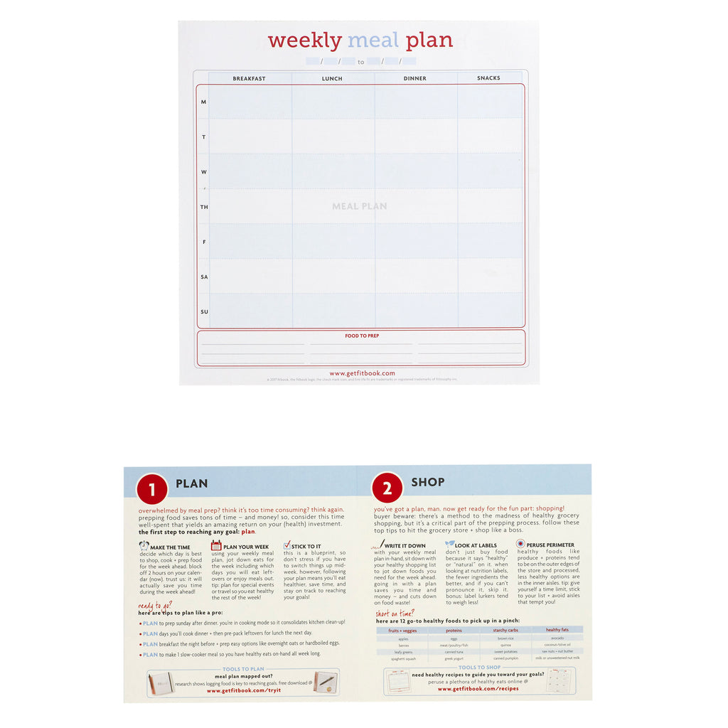 eat fit kit: shopping list + meal planning pad