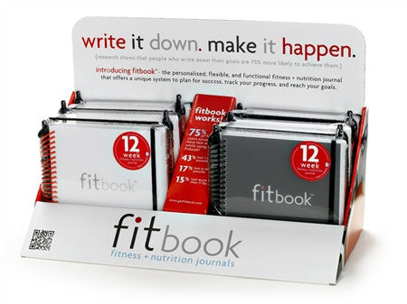 fitbook starter kit: casepack of 12 + display