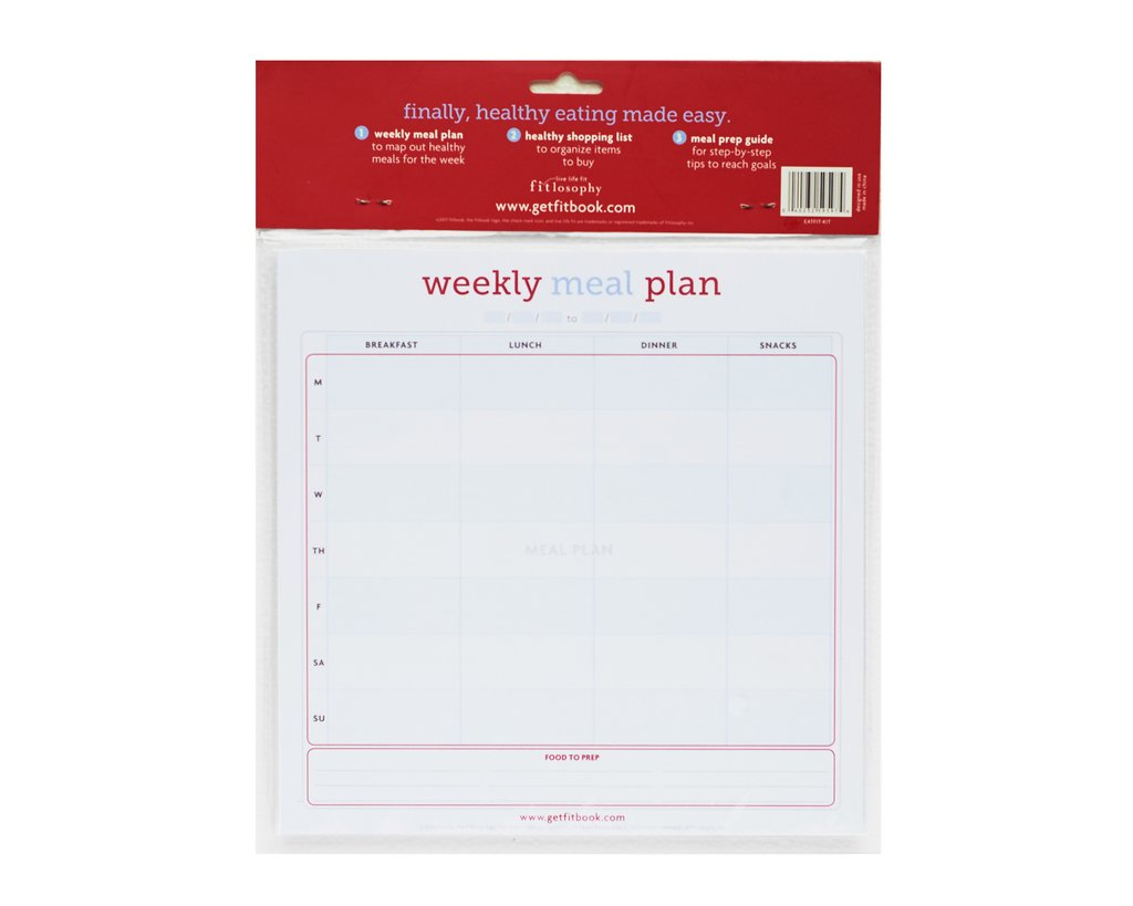 eat fit kit: shopping list and meal planning pad [casepacks]