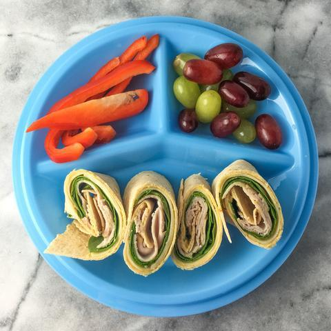 cut calories + stash cash: 3 lunches, 1 plate