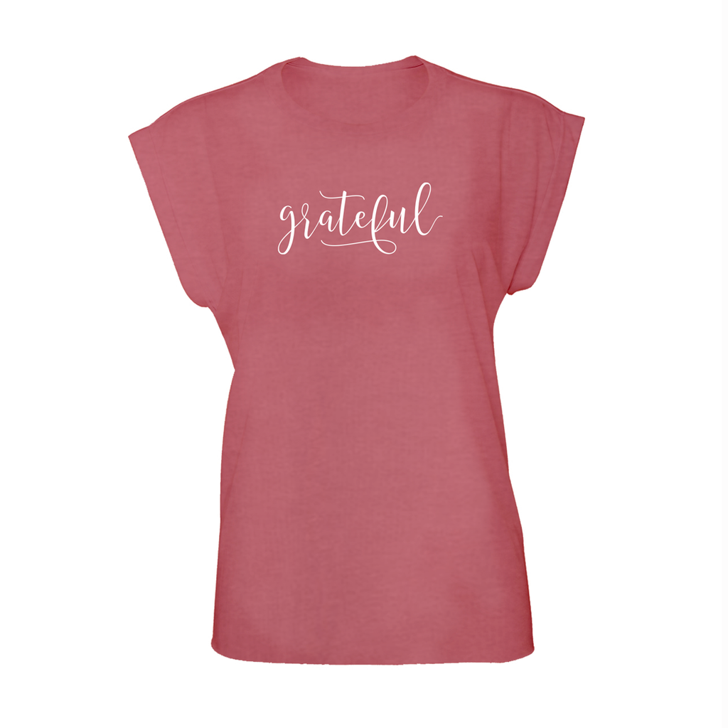 grateful: rolled cuff muscle t-shirt