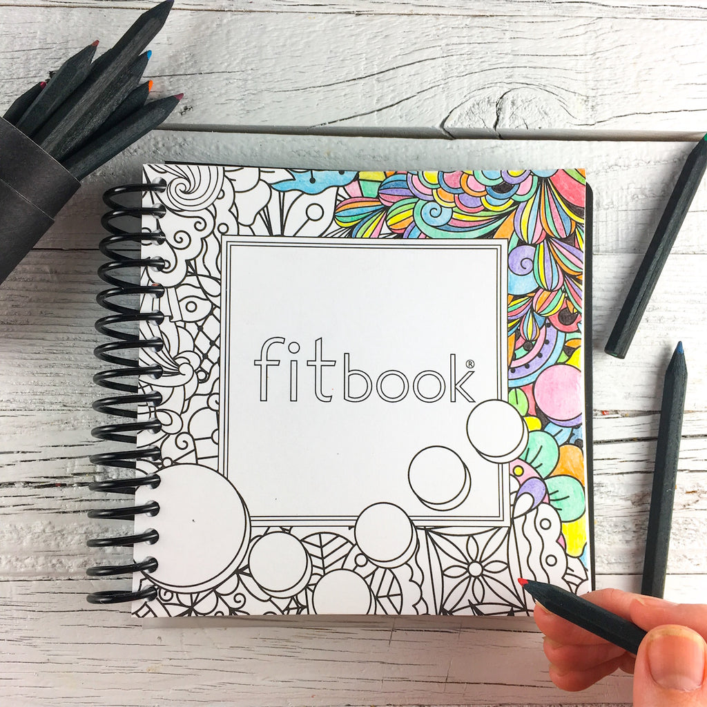 #adultcoloring fitbook [with colored pencils!]