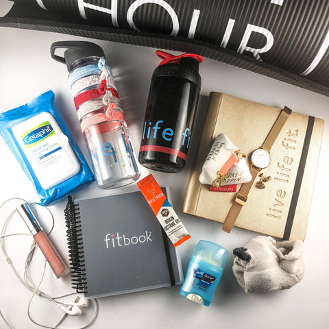 what's in your gym bag? peek inside the bags of 3 fitlosophy ladies.