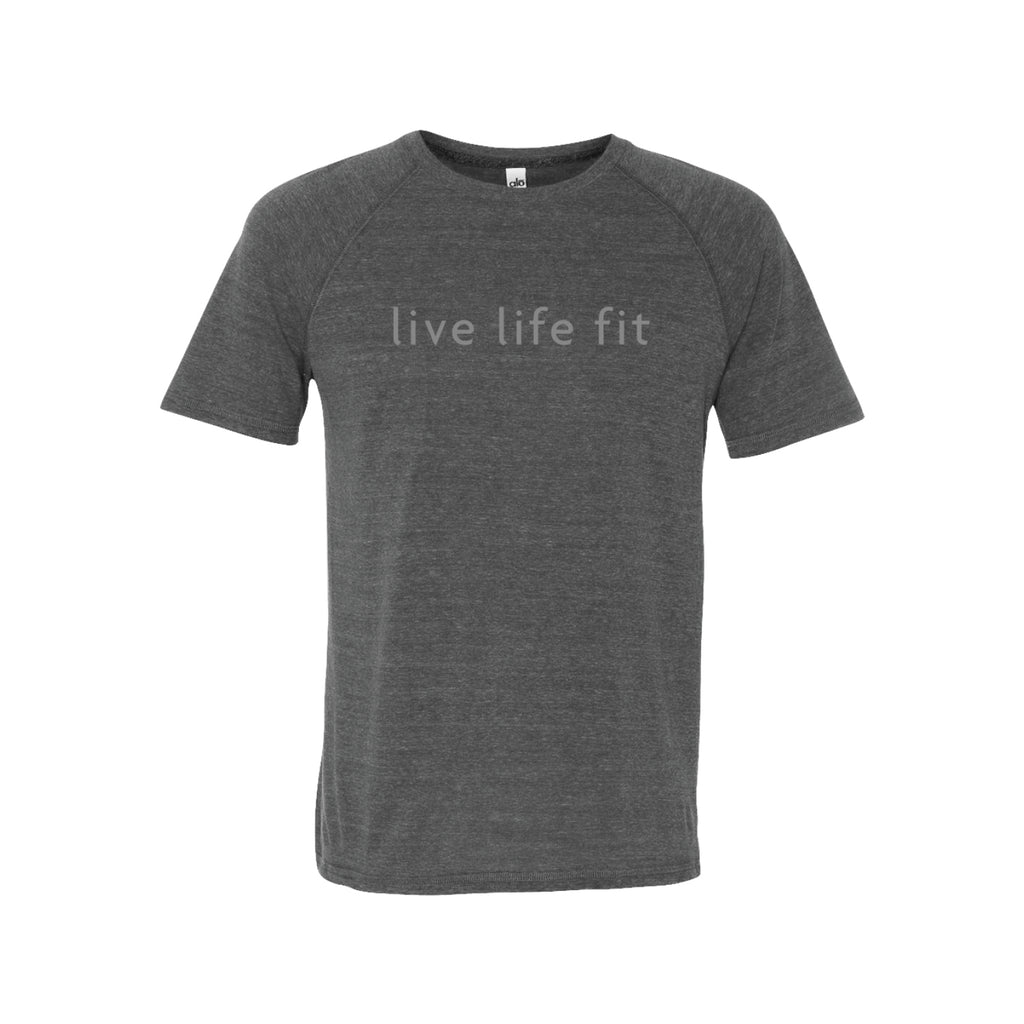 live life fit: men's sport performance tee: grey