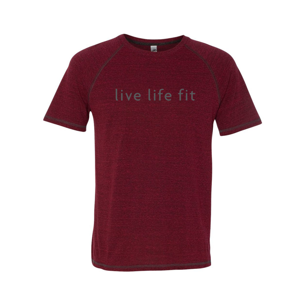 live life fit: men's sport performance tee: red
