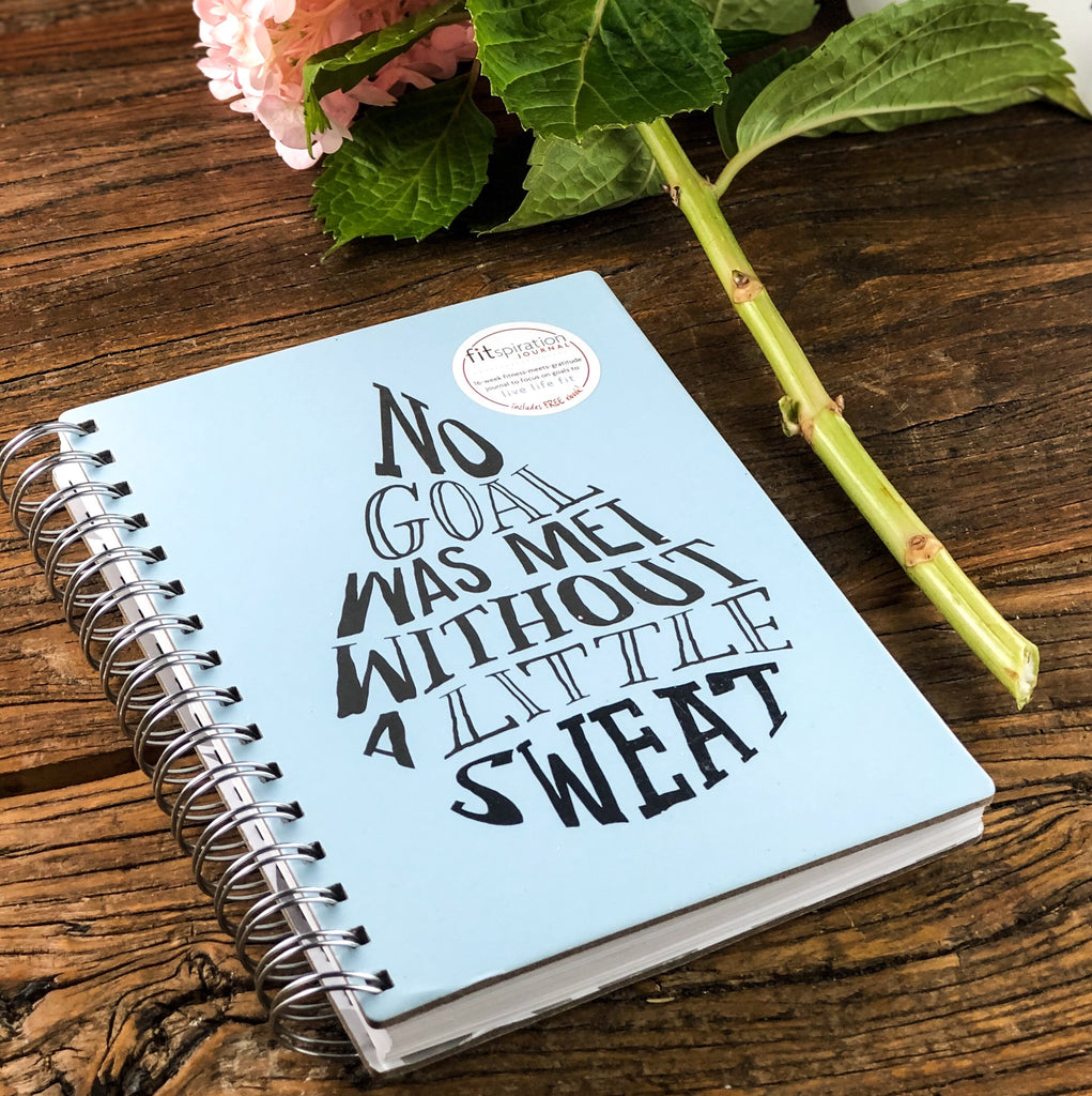 no goal was met: wire-bound fitspiration gratitude + fitness journal