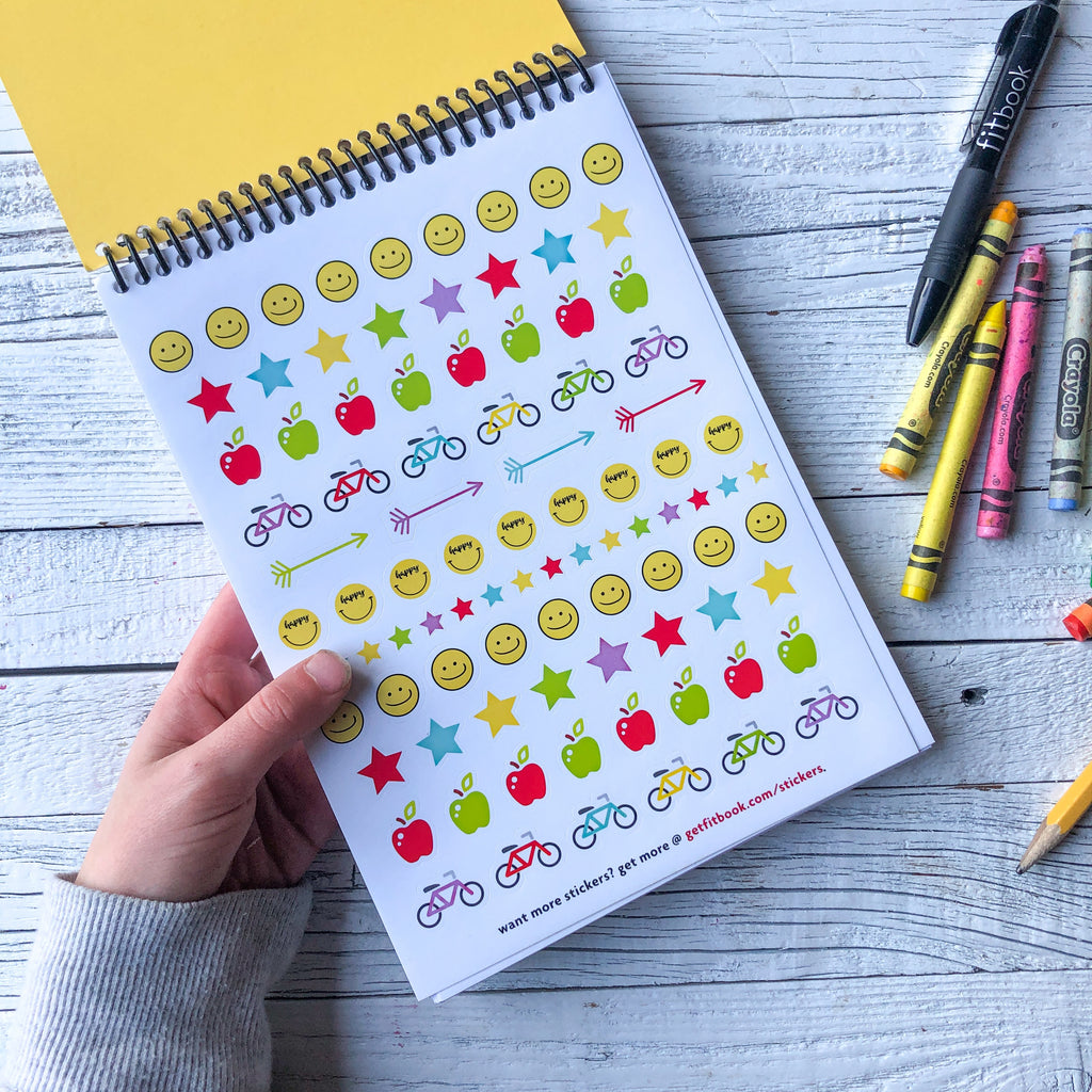 happy tracker: daily gratitude for kids – with stickers!