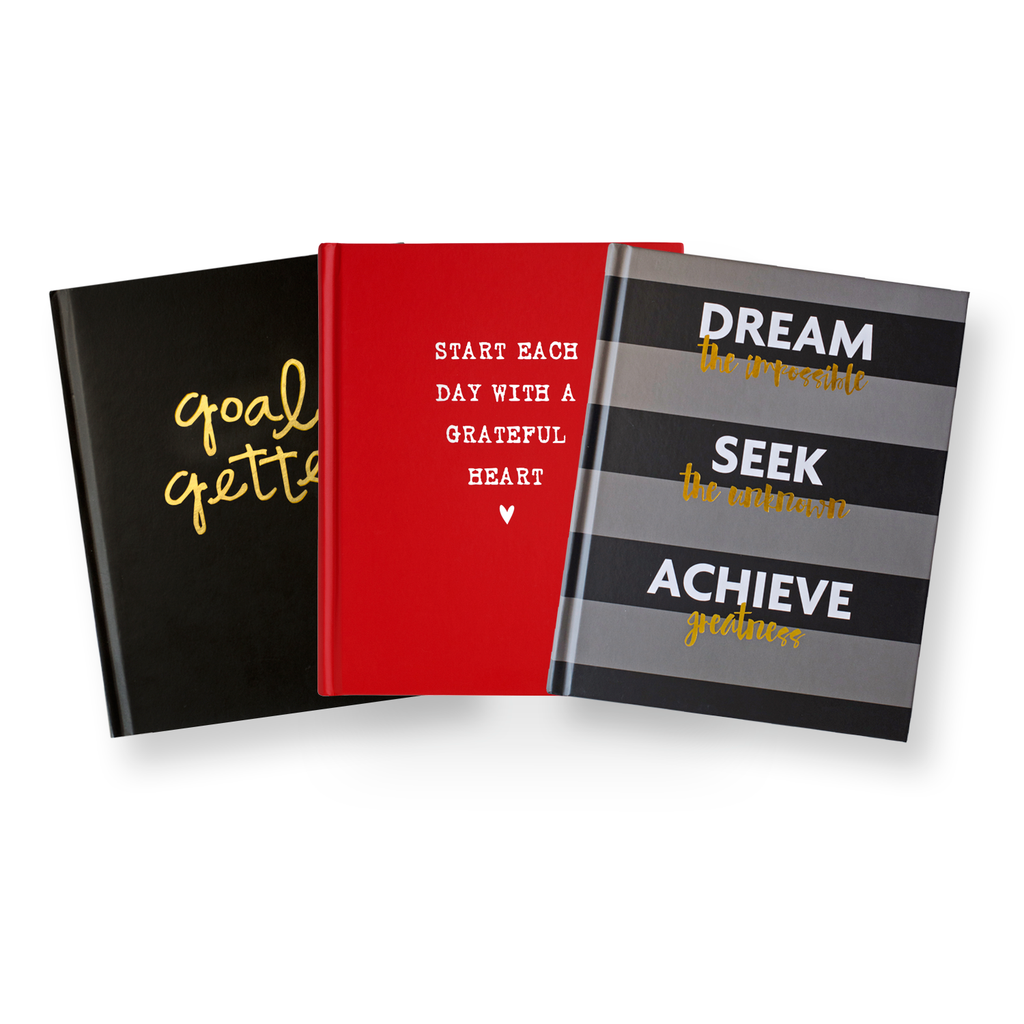 fitspiration journals: bundle of 3 gratitude + fitness journals