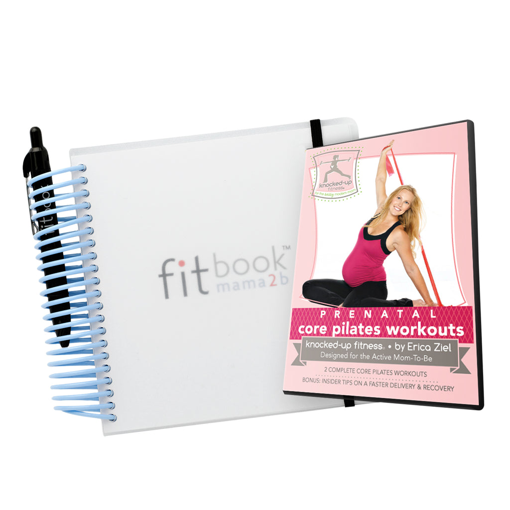 prego pack: fitbook mama2b and prenatal workout dvd