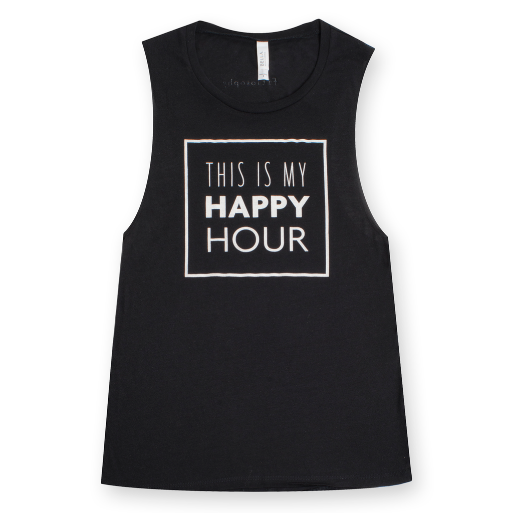 this is my happy hour: flowy muscle tank