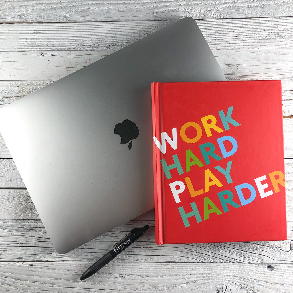 work hard, play harder: fitspiration gratitude + fitness journal