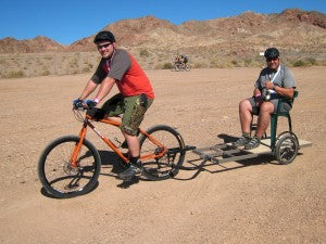 Surly Troll and Surly Trailer