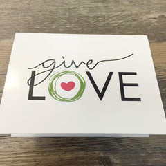"""Give Love""  Blank Note Cards (Set of 15)"