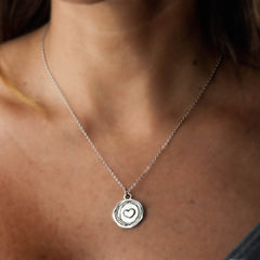 Heart to Heart Necklace - Sterling Silver