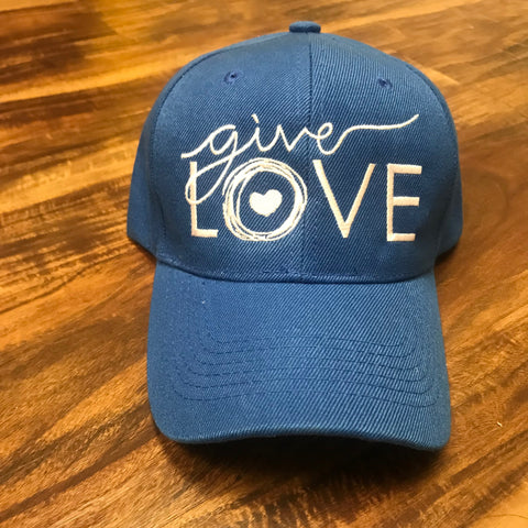 """GIVE LOVE"" BLUE CAP"