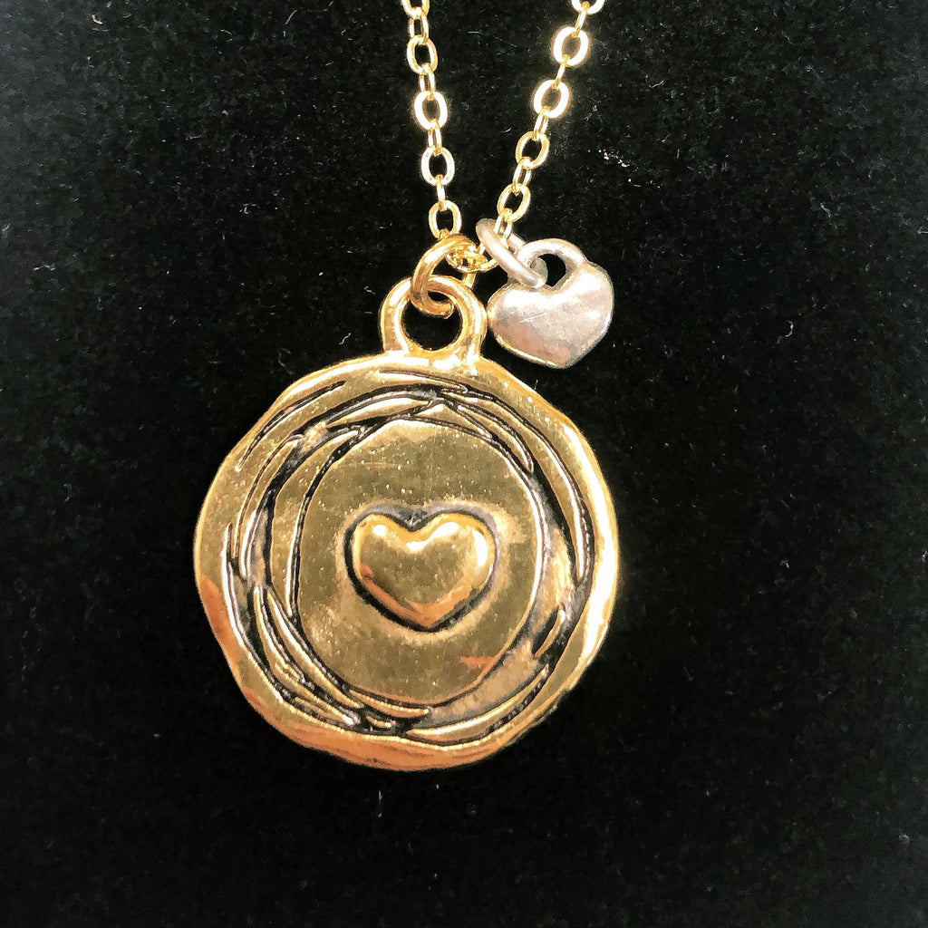 Heart to Heart Necklace (Gold)