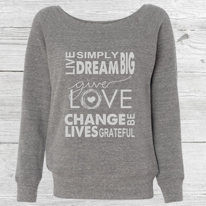 """Change Lives"" Wide Neck Sweater"