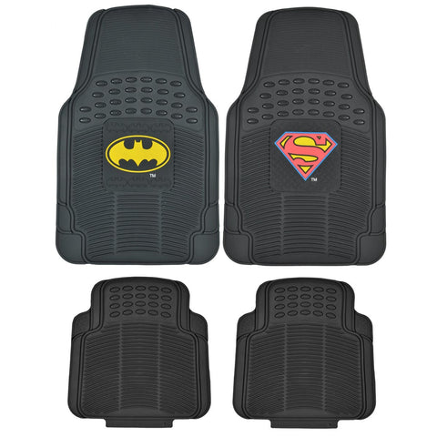 Batman V Superman Dawn of Justice Floor Mats for Car & SUV - 4 Piece Set (2 Style)