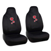 Red Ladybug Front Car Seat Covers - Cute Accents on Black Polyester Cloth