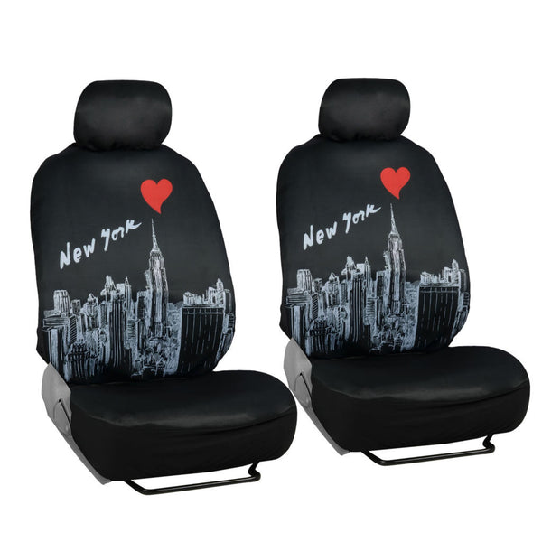 4 Pc New York Skyline Towers Original Low Back Bucket Seat Covers
