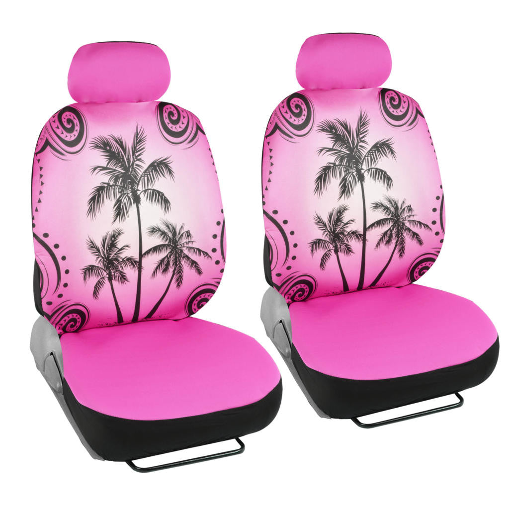 Incredible Pink Palm Tree Car Seat Covers Tropical Islander Front Universal Fit Inzonedesignstudio Interior Chair Design Inzonedesignstudiocom