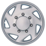 "BDK Ford Original Style Hubcap OEM Replica - 16"", Silver, 4 Pieces"
